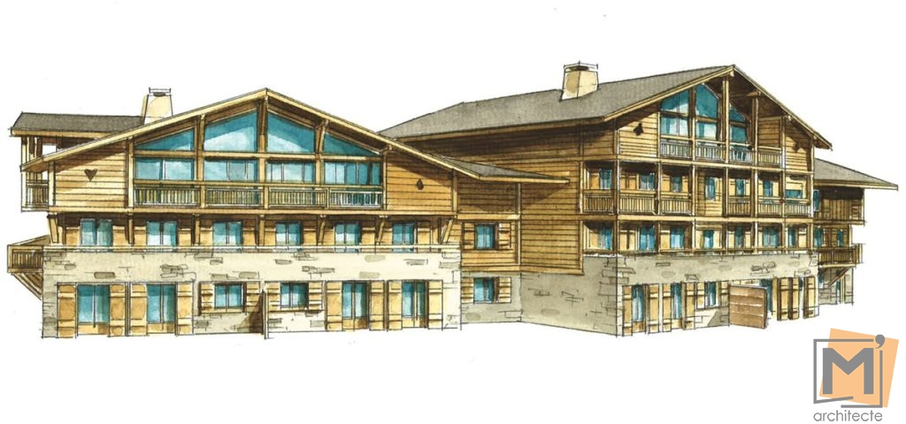 m 39 architecte construction of 28 new dwellings in chamonix jeanne d 39 arc project. Black Bedroom Furniture Sets. Home Design Ideas
