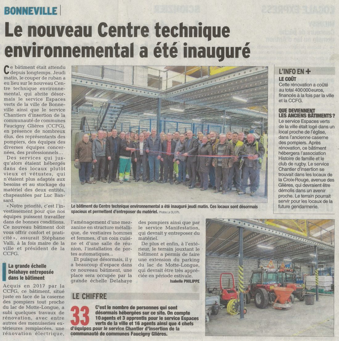 M'Architecte - Inauguration du centre technique de Bonneville