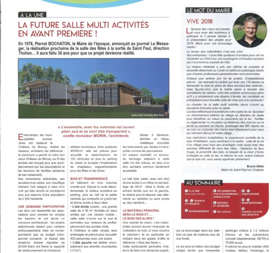 M'Architecte - Article Bulletin Municipal Saint Paul en Chablais